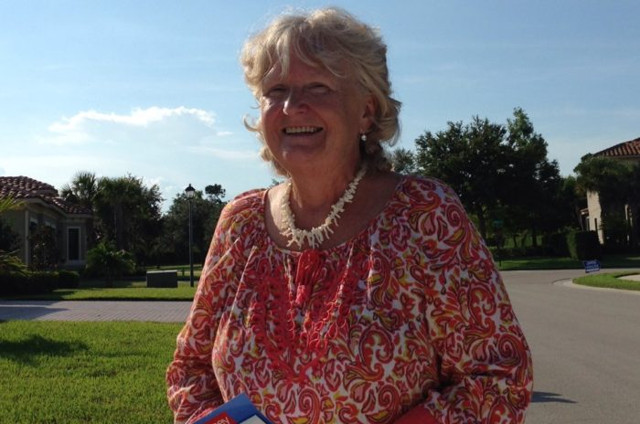 Christine Shaffer pancreatic cancer patient, outside in the sunlight