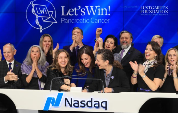 Let's Win Rings The Nasdaq Closing Bell For Pancreatic Cancer Awareness Month