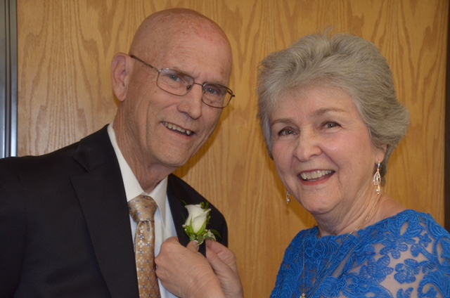 Pancreatic cancer survivor Richard Blish and his wife Marian at their wedding