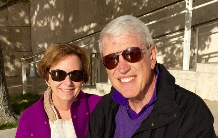 Pancreatic cancer patient John Sherry and his wife, in sunglasses