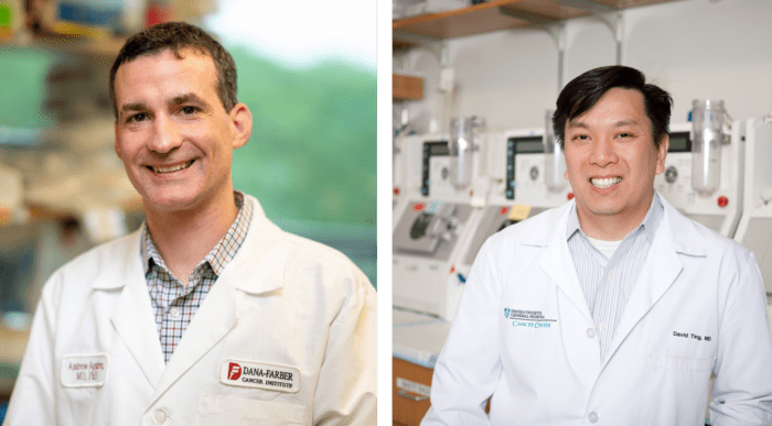 Pancreatic cancer researchers Andrew Aguirre and David Ting