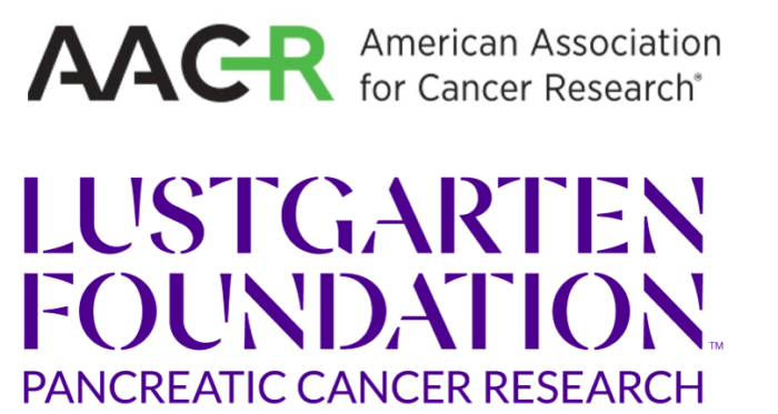 logos of American Association for Cancer Research and Lustgarten Foundation