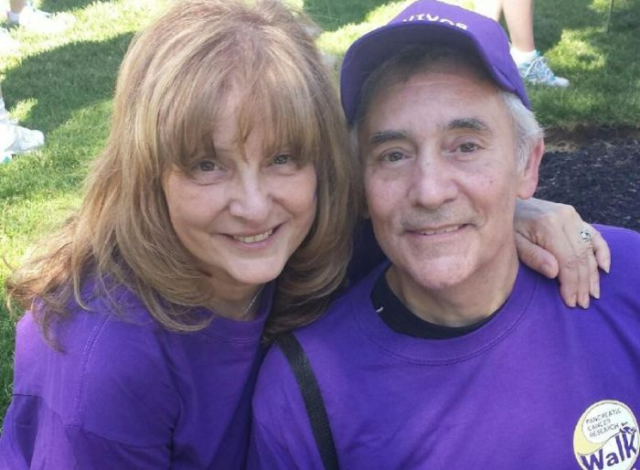 pancreatic cancer survivor Anthony DelRusso and Diana