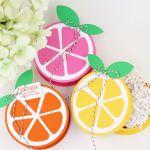 Bright Citrus Paper Gift Boxes
