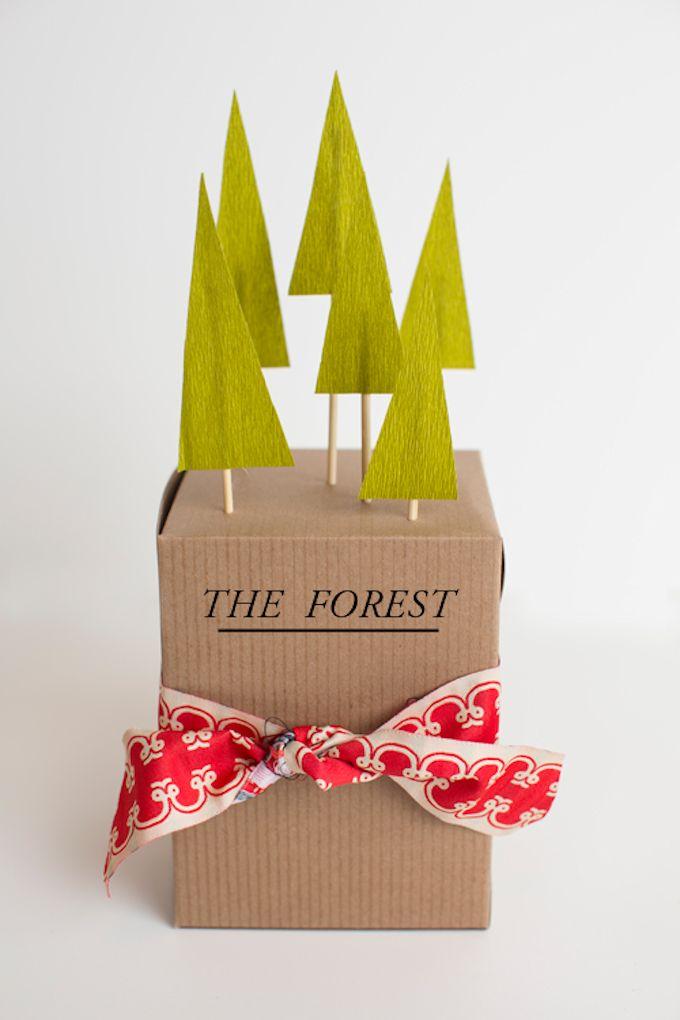 christmas trees 3D gift wrap
