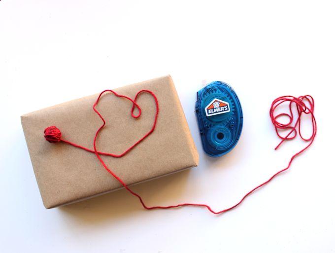 yarn ball gift wrap