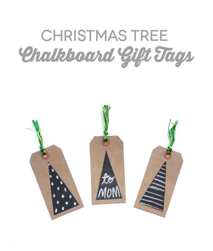 Christmas Tree Chalkboard Gift Tags - Let's Wrap Stuff