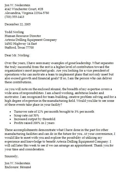 Cover Letter For A Resume Example Resume Example Resume Cover