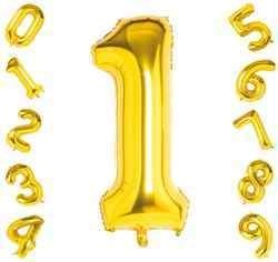 40 Inch Gold Number Balloons
