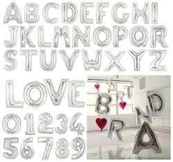 16 Inch Silver Letter Balloons
