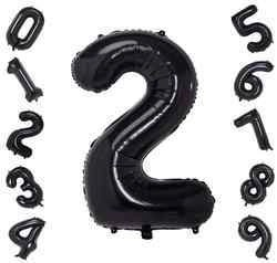 40 Inch Black Number Balloons