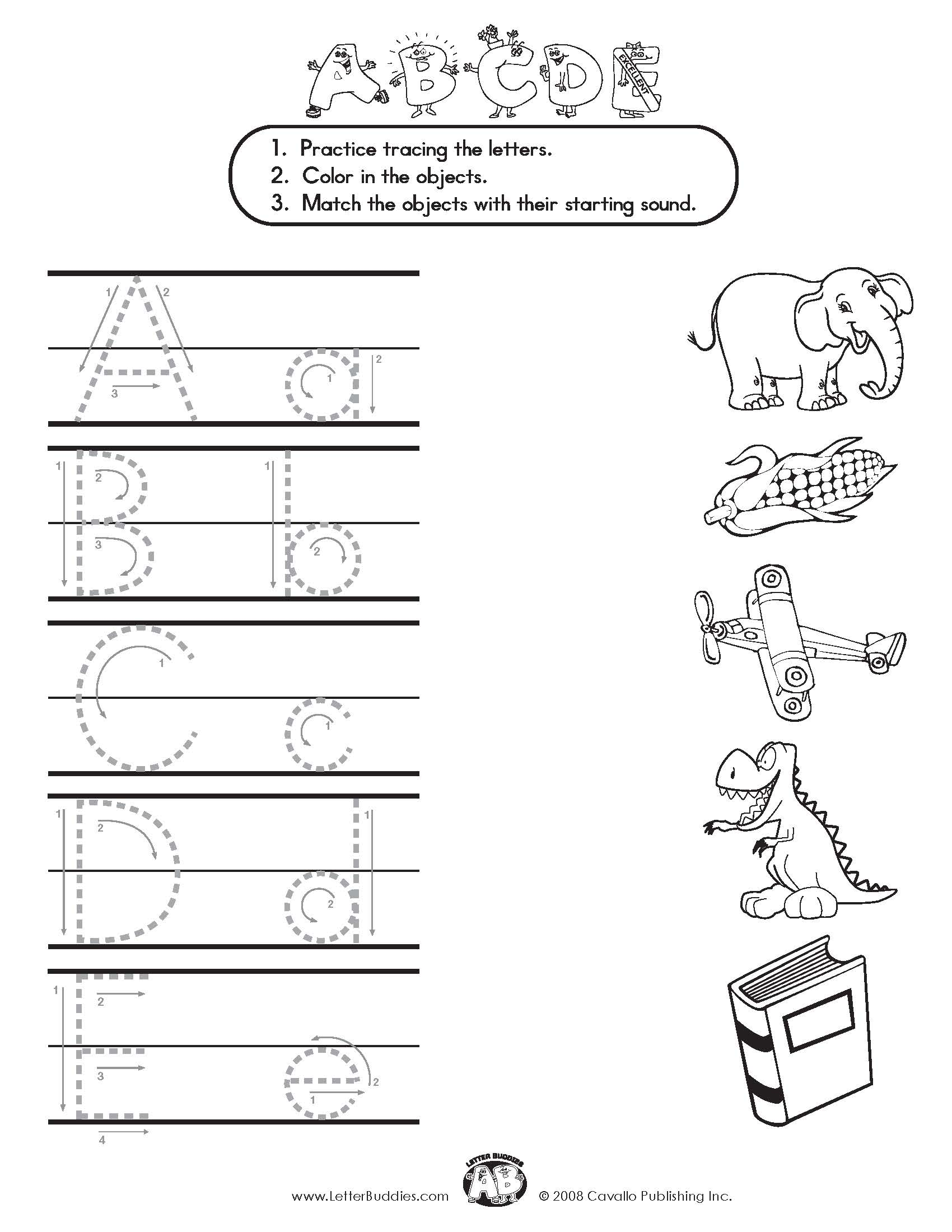 Letter Matching Amp Letter Formation Worksheets