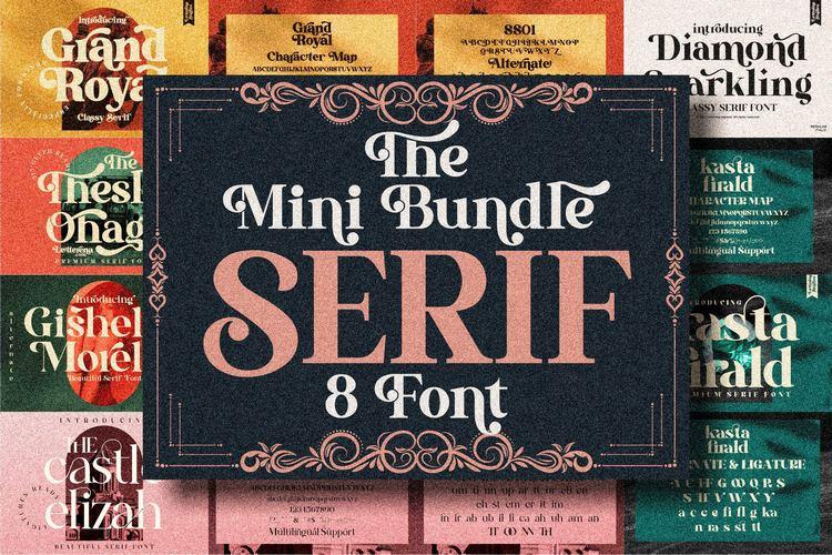 Preview image of Serif Font Bundle