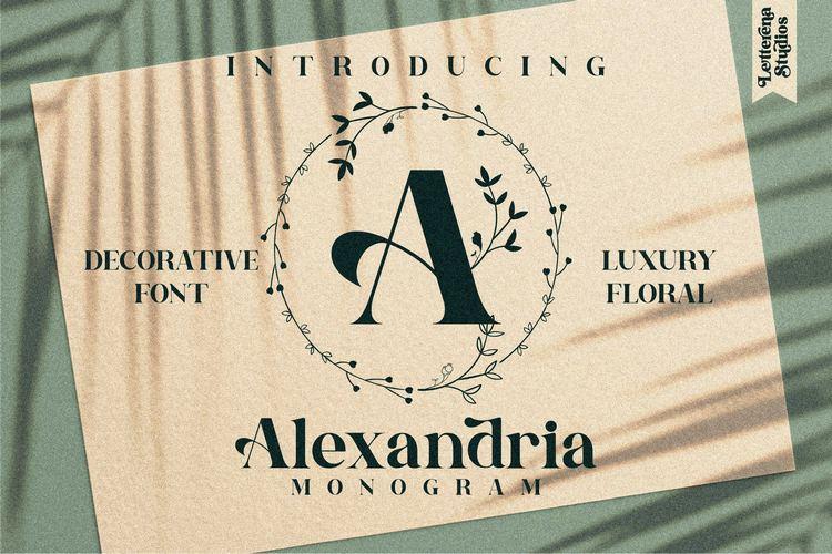 Preview image of Alexandria Monogram