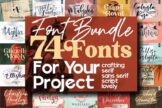 Last preview image of The Massive Font 74 Fonts ALL STYLE, Special Edition !!!