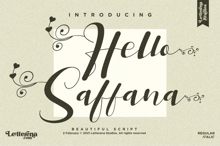 Preview image of Hello Saffana