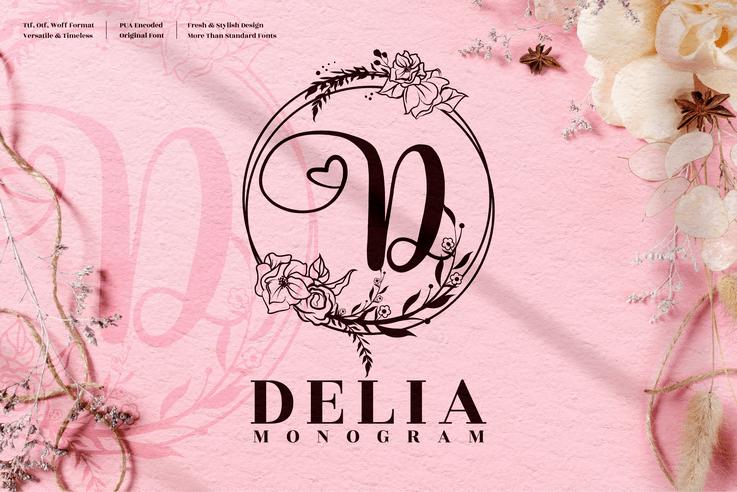 Preview image of Delia Monogram