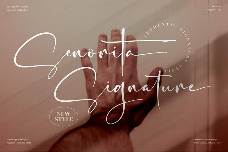 Preview image of Senorita Signature