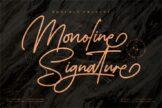 Last preview image of Monoline Signature