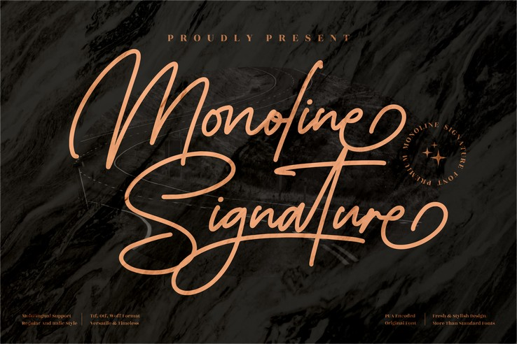 Preview image of Monoline Signature