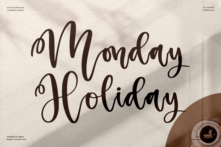 Preview image of Monday Holiday