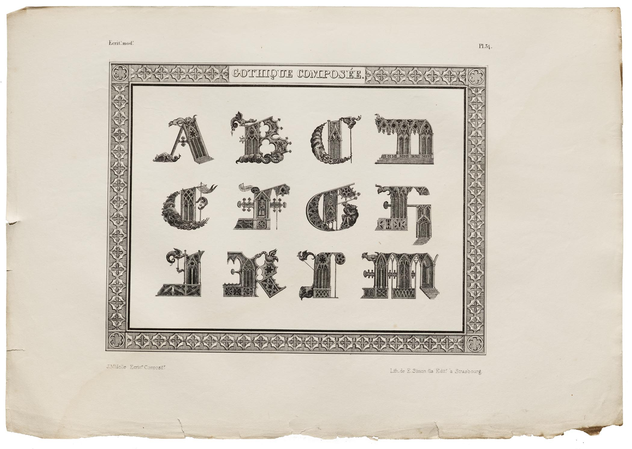 Salon Beige Org From The Collection The Alphabet Lithographs Of Jean Midolle