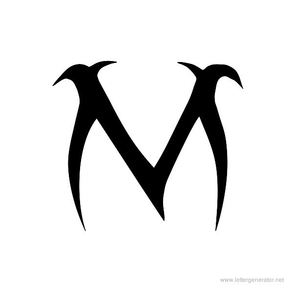 Letter M And R Together Tattoo