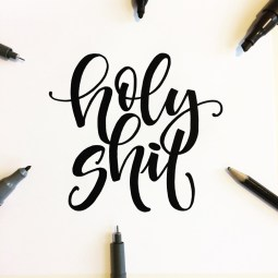 holy shit lettering by martina johanna