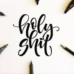 holy shit lettering by martina johanna