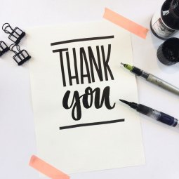 Thank you - Lettering by martina johanna