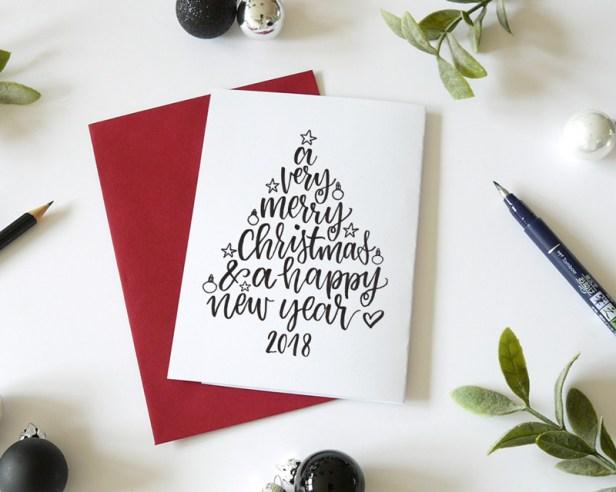 Handlettering-weihnachtskarte-Christmas Lettering Workshop Bremen