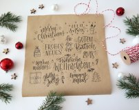 Handlettering weihnachtskarte Christmas Lettering Workshop Bremen Martina Johanna