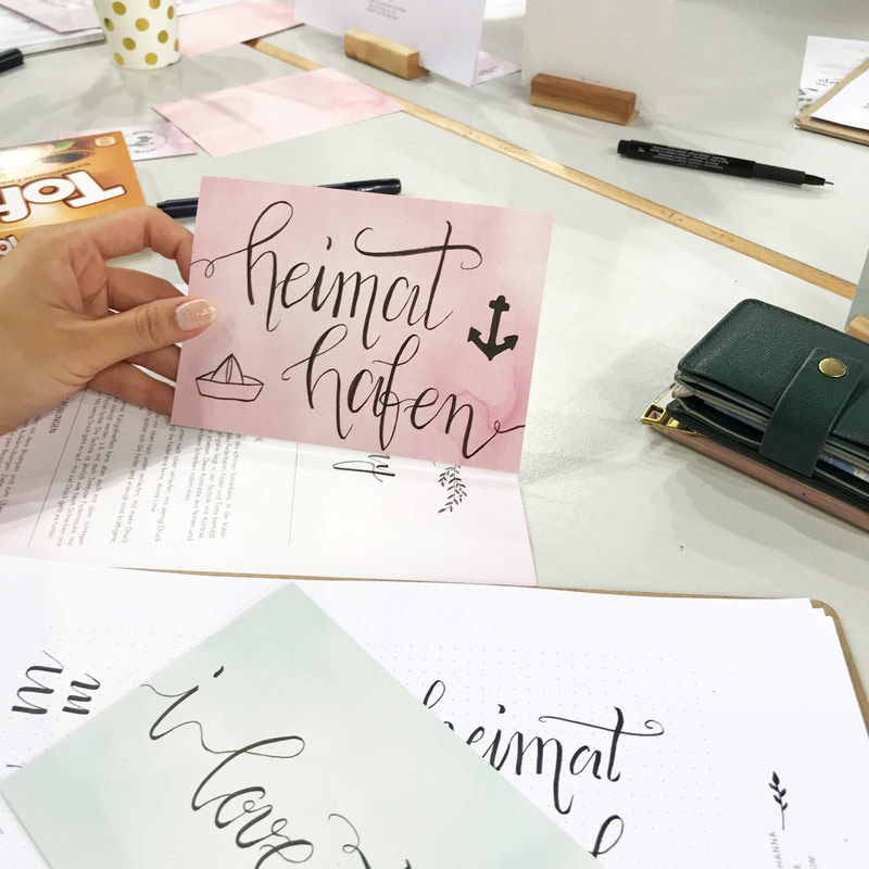 Kreativzeit Bremen, Lettering Workshop, Schnupperkurs in Bremen, Brush Lettering Schnupperkurs
