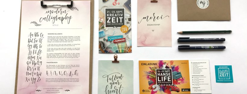 Lettering Workshop auf der Trauzeit und Kreativzeit in Bremen