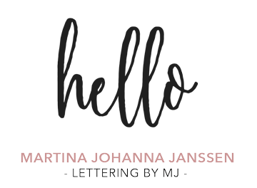 hello, Martina Johanna Janssen, Lettering by mj