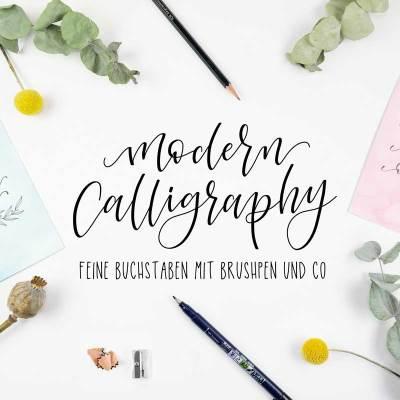 Titelbild vom Lettering Workshop - moderne Kalligrafie - in Bremen von Martina Johanna Janssen