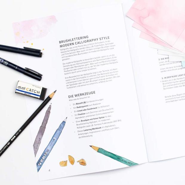 Lettering by Martina Johanna - Workbook Moderne Kalligrafie mit dem Brushpen