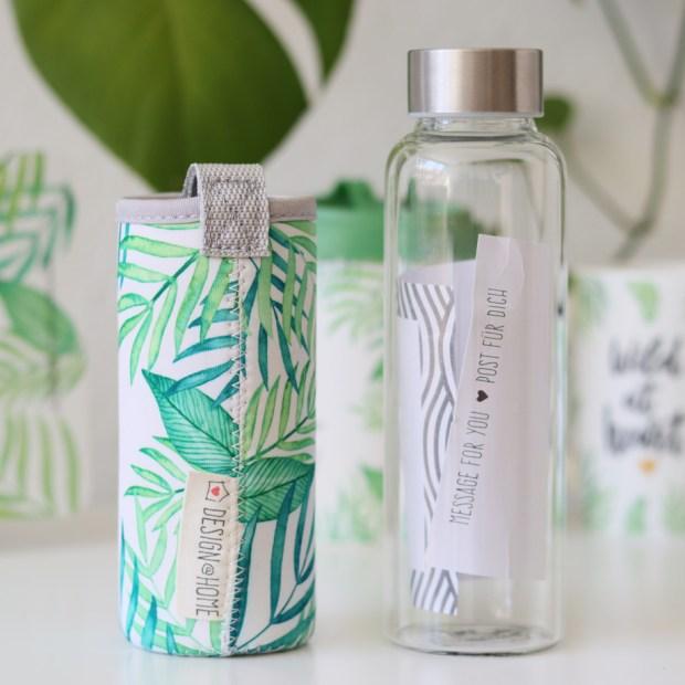 Wild at heart Wasserflasche // Geschenkartikel von Design@home