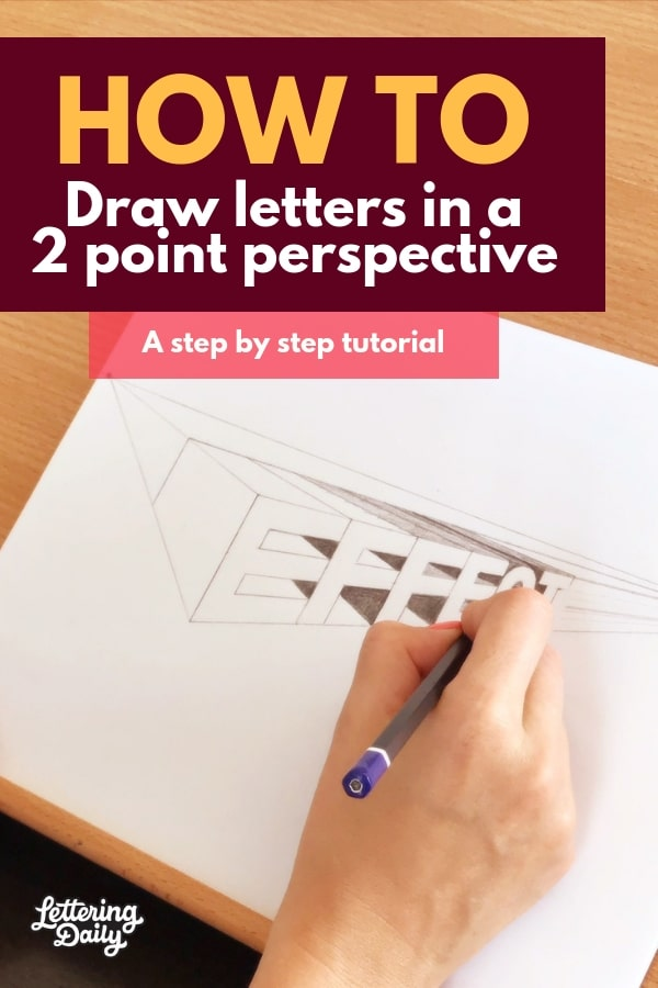 2 Point Perspective Letters : point, perspective, letters, Letters, Point, Perspective, (2019), Lettering, Daily