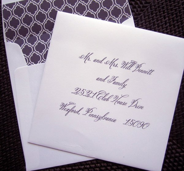 Wedding Invitation Envelope Font