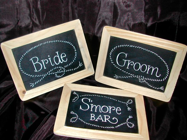 Chalkboard Signs Rustic Country Wedding Lettering
