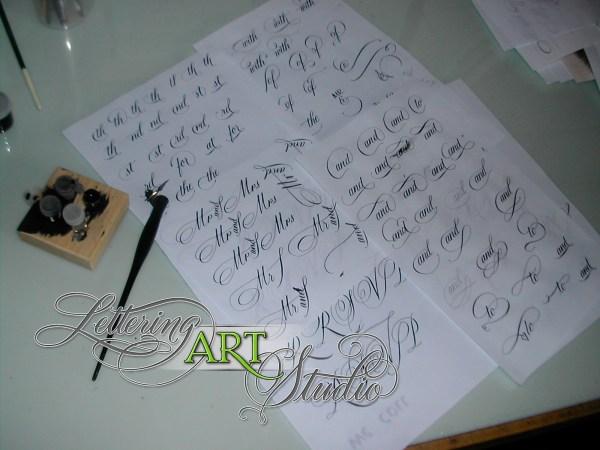 Script Font Invitations Lettering Art Studio