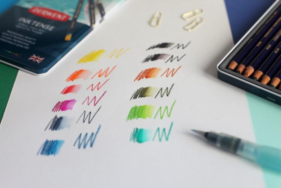 Boîte de 12 couleurs crayons Derwent