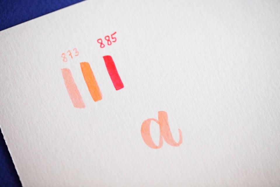 """pas à pas de blending sur la lettre """"a"""" (1/4)"""