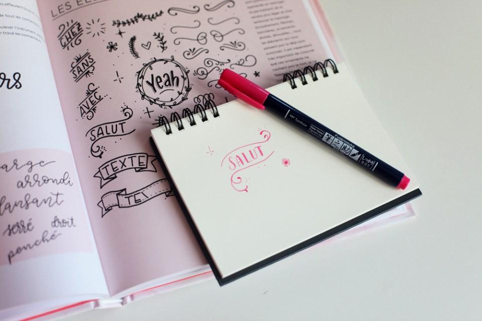 lettering et décorations