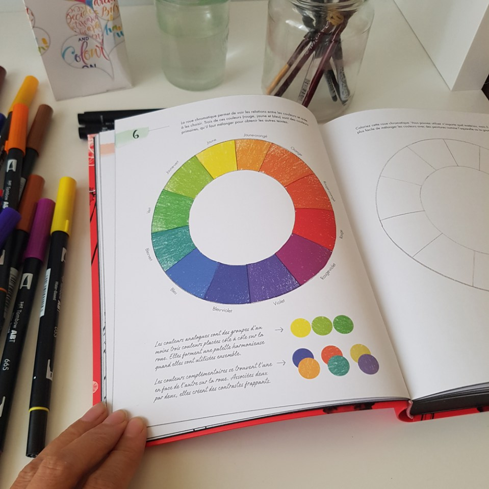 la roue des couleurs primaires secondaires tertiaires