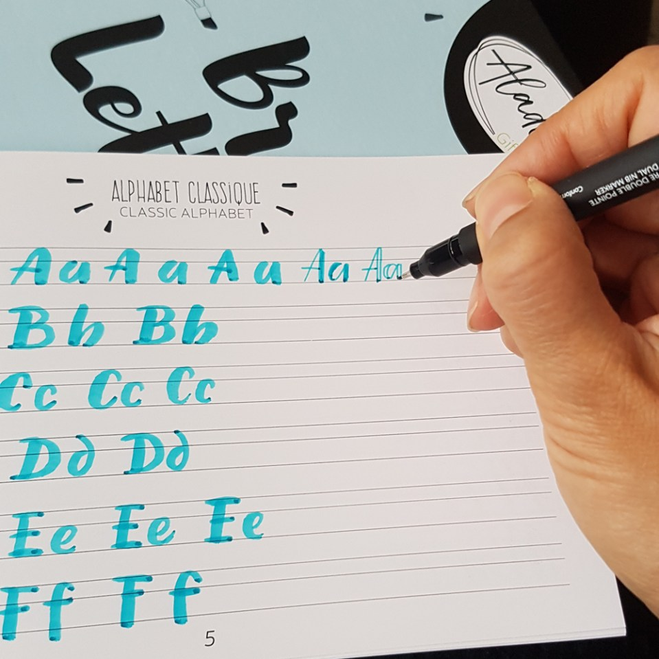 test du livret Aladine alphabet