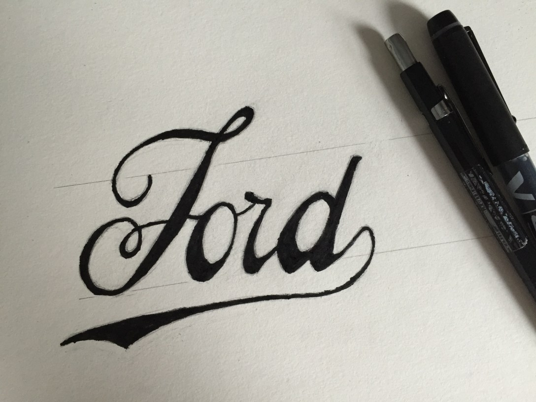1909 Ford Car Logo - Lettering Tutorial