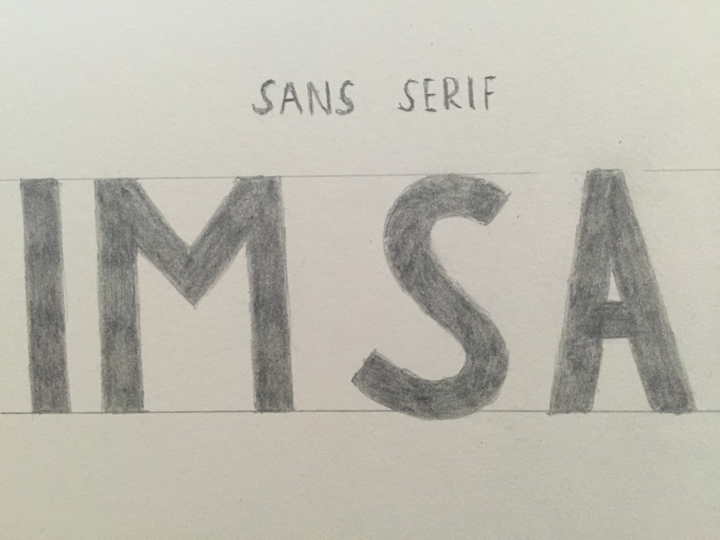 Sans Serif Lettering