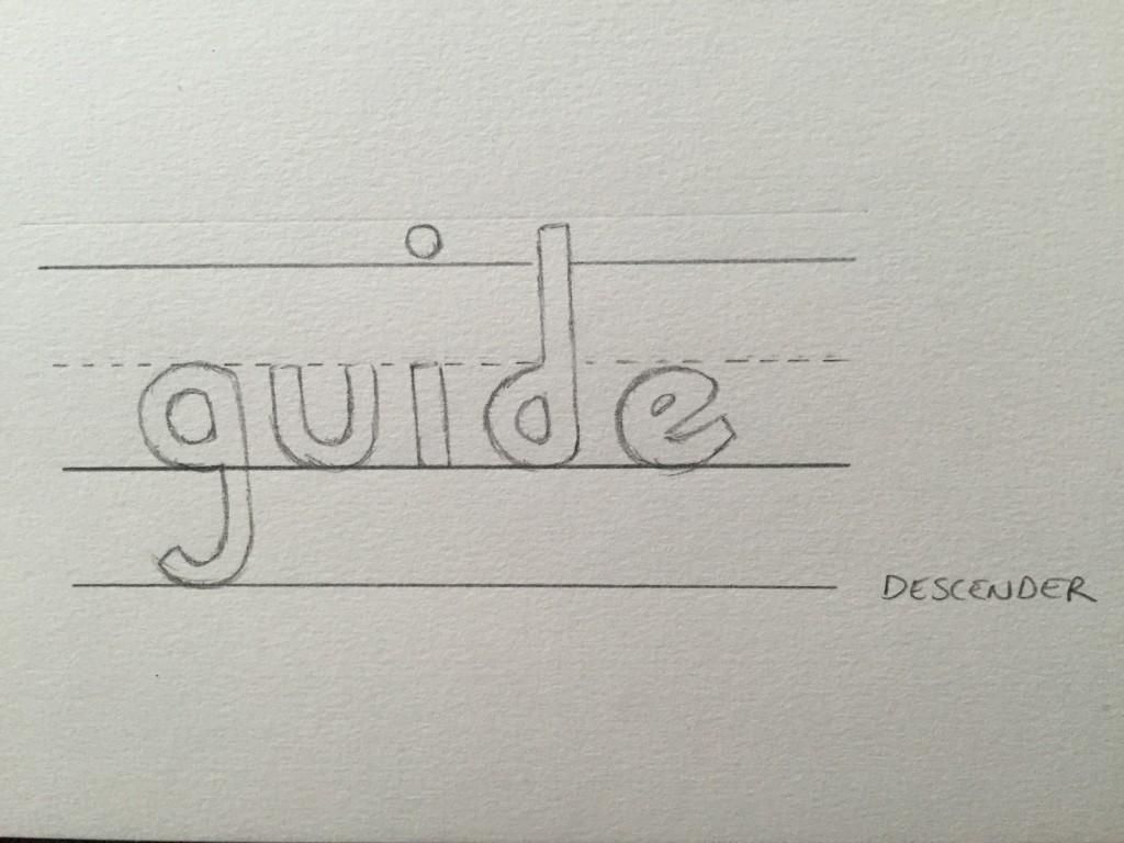 Hand Lettering Guide Descender